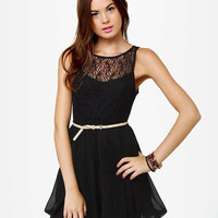 Bubble Duty Black Lace Dress