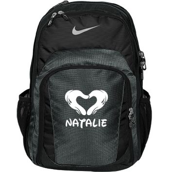 Her Nike Cheer Bag!: Custom Nike Premium Performance Backpack Bag - Customized Girl
