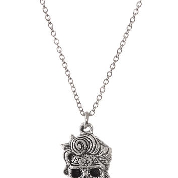 Deadly Dame Sugar Skull Necklace