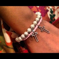 Outlined Cross Bracelets from La Fede Boutique