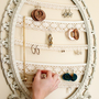 Jewelry Display Repurposed Painted Frame