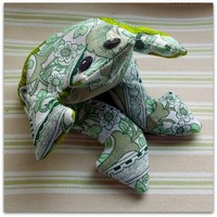 Vintage Burgess Ledward fabric lavender filled frog £5.95