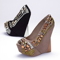 Zaya Embellished Wedge Sandal
