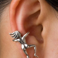 Silver Ear Woman Ear Cuff