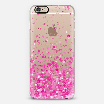 Pink Party Confetti Explosion Transparent iPhone 6 case by Organic Saturation | Casetify