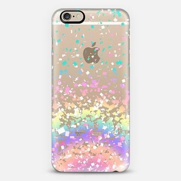 Pastel Rainbow Confetti Explosion Transparent iPhone 6 case by Organic Saturation | Casetify