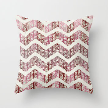 Pink  Throw Pillow by rskinner1122