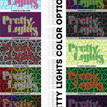 Pretty Lights Lyric Poster - 12x18 - Handmade With Lyrics - Pretty Lights Family - PLF - PL - Derek Vincent Smith - Colorado - Stoki Design