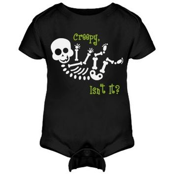 Be A Twin for Halloween: Custom Infant Rabbit Skins Lap Shoulder Creeper - Customized Girl