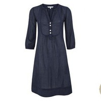 Navy Check Cotton Dress at LAURA ASHLEY
