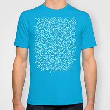 Mint Berry Branches T-shirt by Cat Coquillette