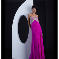 Jasz Couture Purple Low Back Embellished Dress Prom 2015