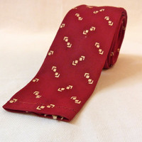 1950s Mad Men Burgundy Flat Bottom Tie