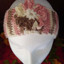 Pink Cream Brown Ultra Soft Boho Womens Knitted Headband Ear Warmer