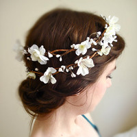 sakura a twiggy cherry blossom wreath by thehoneycomb on Etsy
