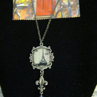 Steampunk Eiffel Tower Necklace