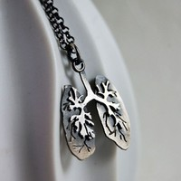 Ready to Ship Just Breathe Sterling Silver Lungs By by MarKhed
