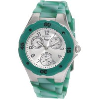 Invicta Women&#x27;s 1493 Angel Silver Dial Multi-Green Colored Rubber Watch - designer shoes, handbags, jewelry, watches, and fashion accessories | endless.com