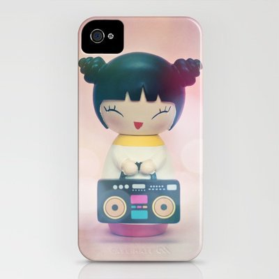 Party Girl with her Boombox iPhone Case by Society6