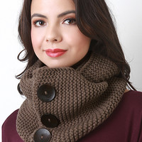 Button-Up Infinity Scarf