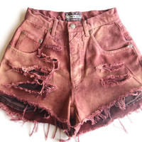 Coachella inspired high waisted denim shorts