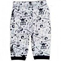 RYB Fabric Cotton Spandex Pants Black  White $18