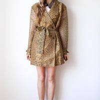 tea and tulips boutique - one of a kind vintage. — printed trench coat