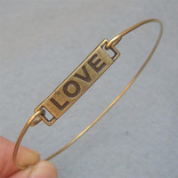 Love  Bangle Bracelet Style 6