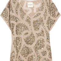 Antik Batik Lisa sequin-embellished georgette top – 65% at THE OUTNET.COM