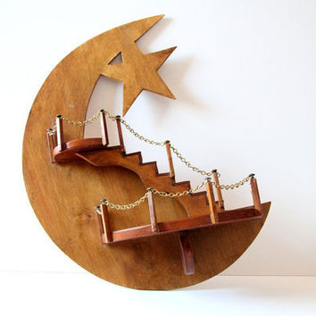 Wooden Moon Shelf by northbrooklyndrygood on Etsy