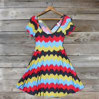 Jack Creek Chevron Dress in Red, Sweet Women's Country Clothing