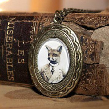 Handmade Gifts | Independent Design | Vintage Goods Young Mr. Fox Locket Necklace - Jewelry - Girls