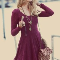 Free People Floral Lace Fit and Flare Dress at Free People Clothing Boutique