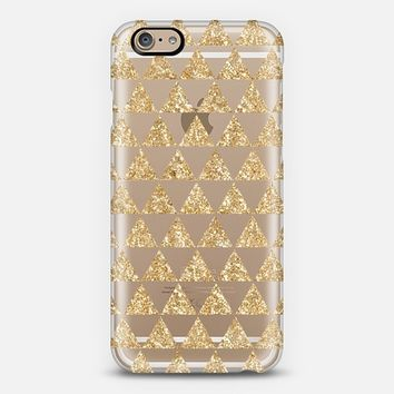Glitter Triangles in Gold - Phone Crystal Clear Case iPhone 6 case by Nika Martinez | Casetify