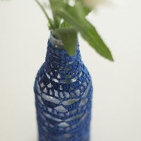 Crochet Lace Soda Pop Vase