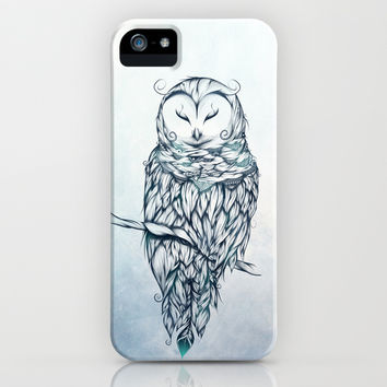 Snow Owl iPhone & iPod Case by LouJah