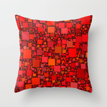 Post It Red Throw Pillow by Alice Gosling