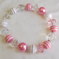 Mollipops! - Pretty in Pink - necklace by Mollie Moe Bows