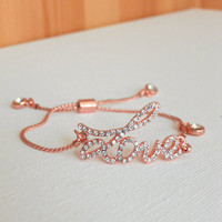 Sparkling Amore Bracelet [3204] - $16.00 : Vintage Inspired Clothing &amp; Affordable Summer Dresses, deloom | Modern. Vintage. Crafted.