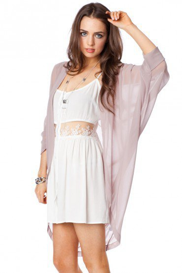 Morning Chiffon Kimono - ShopSosie.com