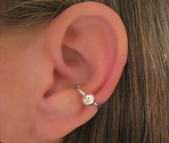 "No Piercing ""Captive Big Ball Conch "" Ear from Wolf and Firefly Ear Piercing Jewelry"