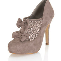 Seal Mocha Crochet Town Shoe - Heels  - Shoes