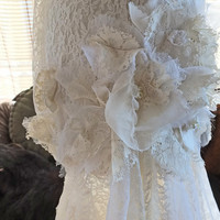 Flapper 1920s wedding dress handmade lace dress great gatsby wedding dress