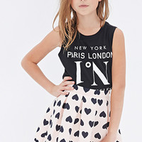 Heart Print Skirt (Kids)
