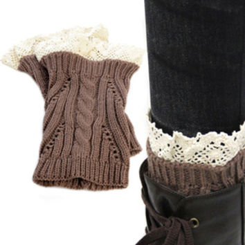 Crochet Boot Toppers--Brown