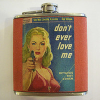 pulp fiction flask retro vintage pin up girl true crime rockabilly kitsch