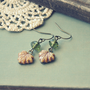 earthy maple leaf earrings by bellehibou on Etsy