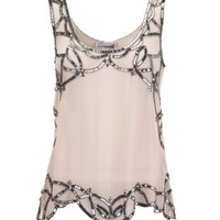 Lipsy Beaded Trim Vest