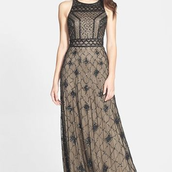 Women's Adrianna Papell Embellished Mesh gown