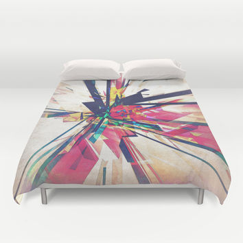Abstract Geometry Duvet Cover by Phil Perkins